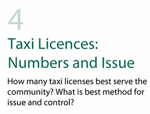 Taxi Licences: Numbers and Issue